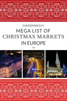 Holiday travel in Europe means visiting Christmas markets. Here's a Mega List of the Best Christmas Markets in Europe (complete with dates) in Belgium, Germany, France, the Netherlands, and the UK. Best Christmas Markets, Christmas Markets Europe, Christmas Travel, Holiday Travel, Christmas Fun, Christmas Vacation, Christmas Traditions, Beautiful Christmas, White Christmas