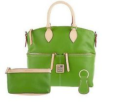 This green Dooney satchel screams spring to us!
