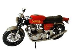 This Norton Commando Tinplate Model Motorcycle is Red. It is made by Tinplate Collectibles and is 1:8 scale (approx. 28cm / 11.0in long).  ...