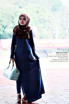 Deep Blue Foret | PuputUtami i like this dress <3