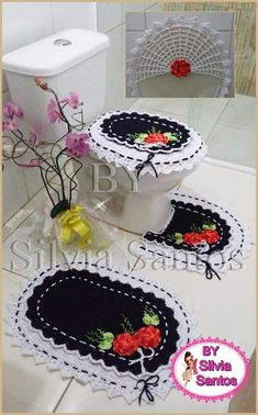 Tiered Cakes, Rugs, Home Decor, Crochet Carpet, Towels, Handmade Crafts, Diy And Crafts, Santos, Crochet Flowers