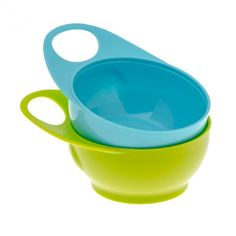 www.brothermax.com 2 Bowls, 1 blue,1 green . Easy-hold handle. Ideal for baby-led weaning. From weaning to toddler mealtime. Mix & match lids with our Weaning Bowl Set & Snack Pot Bowl. Easy for parent to hold. Perfect size for little ones to encourage self-feeding. BPA-free