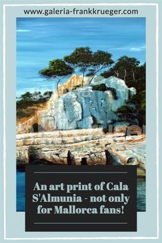 With the art print Cala S'Almunia the artist Frank Krüger shows a beautiful but mostly unknown bay in the southeast of Mallorca. If you want to reach it, you have to climb down a steep staircase and you will find almost nothing but rocks and a little sand beach. Those who are not put off by this will quickly find themselves in an idyll that is simply inspiring and where you can leave everyday life behind. #artprint #mallorca #artist Steep Staircase, Bull Painting, Mallorca Island, Sand Beach, Majorca, Beautiful Islands, Fishing Boats, Simply Beautiful, Rocks