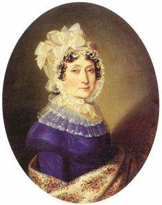 Regency portrait of Countess Ferencne Szechenyi by Johann Nepomuk Ender. Historical Clothing, Female Clothing, 1800s Clothing, 1800s Fashion, Women's Fashion, Regency Era, Old Paintings, Empire Style, Fashion Plates