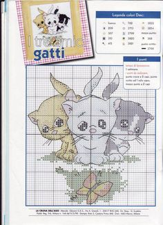 3 kittens cross-stitch pattern