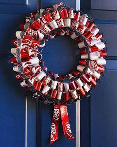 soda can wreath
