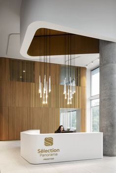 Panorama: Rising to the Challenge | acdf architecture | Media - Photos and Videos - 19 | Archello Precast Concrete Panels, Hotel Lobby Design, Inspiration Design, Design Ideas, Lobby Interior, Counter Design, Commercial Interiors, Ceiling Design, Architecture Design