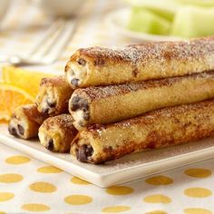 Cannoli French Toast Rolls by landolakes #French_Toast #Cannoli