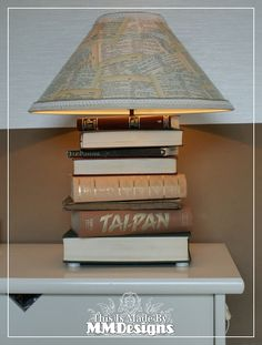 Scrap-a-licious-times:  Lamp made from books