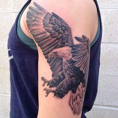 Eagle Tattoos - Browse the latest tattoo designs Thigh Tattoo Designs, Feather Tattoo Design, Tattoo Designs And Meanings, Tattoo Designs Men, Small Hand Tattoos, Hand Tattoos For Women, Tattoos For Guys, Eagle Tattoo Arm, Bald Eagle Tattoos