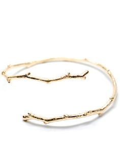 Twig Bracelet in Gold Vermeil - comes in sterling silver and rose gold, too!