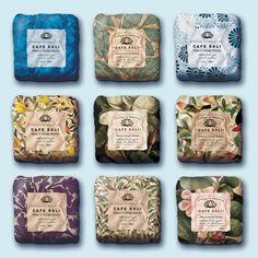 Boutique bar soap packaging wrap design concept by Martis Lupus.
