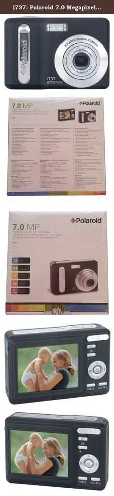 """i737: Polaroid 7.0 Megapixel Digital Camera with 2.5"""" LCD Display. Product Detail * 7.0 megapixel resolution * 2.5"""" bright color LCD * 3x optical zoom, 4x digital zoom * Anti-shake image stabilization * Face tracking for perfect faces in your pictures * In-camera red-eye removal * Still image compression in JPEG (EXIF 2.2), DCF, DPOF, AVI, TIFF * Takes video clips with audio * Audio tag lets you tag audio to any image * AV output * SD compatible for expanded memory * 15 scene modes for..."""