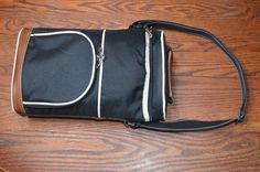 """Insulated cooler bag, tall slim 14"""" tall X 9"""" wide, ideal for wine bottles. Removable divider.  Like new. $8"""