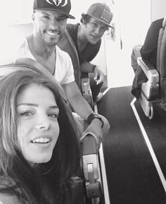 Marie Avgeropoulos & Ricky Whittle & Bob Morley