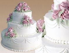 Montilio's Traditional Wedding Cakes - (coral instead of pink?)