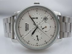 Parnis 43mm textrured white dial automatic mens wr - Automatic - Parnis watch station