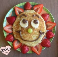 Crafty finds for your inspiration! – Just Imagine – Daily Dose of Creativity - Sunny Pancakes-birthday breakfast… something special to do for the boys on their birthdays - Food Art For Kids, Cooking With Kids, Preschool Cooking, Preschool Age, Easy Cooking, Healthy Cooking, Cooking Tips, Healthy Food, Cute Food