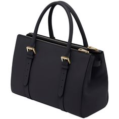 Bayswater Double Zip Tote Black Silky Classic Calf (43,630 MXN) ❤ liked on Polyvore featuring bags, handbags, tote bags, purses, sacs, bolsas, double zip tote, leather purse, leather tote и black tote