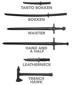 ThinkGeek :: Cold Steel Training Weapons