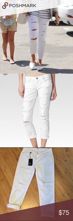 NWT Paige Jimmy Jimmy Crop Cotton elastane blend Crop jeans. Midrise Boyfriend. Anthropologie Jeans Ankle & Cropped