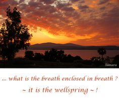 ... what is the #breath enclosed in breath ? ~ it is the #wellspring ~ !