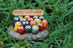 Figuren Garten Rasenfläche-dekorieren steine-bemalen
