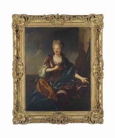 Portrait of a lady, early 18th C, circle of Jean-François de Troy (1679-1752)