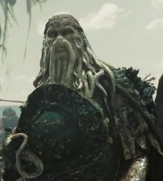 Davy Jones removes his hat - Dead Man's Chest Deleted Scenes Davy Jones' Locker, Pirate Garb, Flying Dutchman, Captain Jack Sparrow, Pirate Life, The Best Films, Orlando Bloom, Pirates Of The Caribbean, Johnny Depp