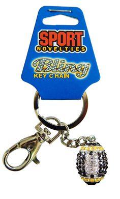 Team Color Football Keychain