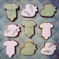 Babyshower geboorte koekjes