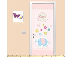 Vintage pink,αυτοκόλλητο πόρτας παιδικό Office Supplies, Children, Frame, Home Decor, Decoration, Girls, Vintage, Young Children, Picture Frame