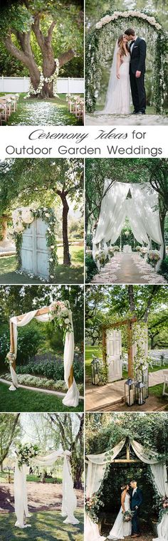 inspiring outdoor garden wedding ceremony ideas