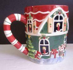 Susan Winget Certified International Christmas Santa's Workshop 3D Mug Planter #SusanWingetCertifiedInternational