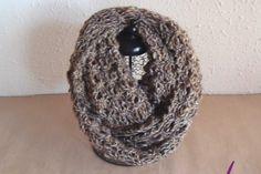 #Cuellos ref. cupla050  en tonos tierra. En #lana mezcla: 60 % acrilica y 30% lana y 10% poliamida. Tejidos a mano en un bonito punto calado formando conchas. Tuyos en www.eltallerdenoa.com #scarf #muffler #Knitting #puntodemedia