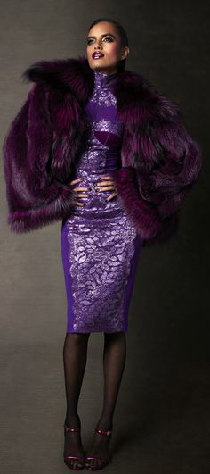 First Look: Tom Ford Autumn/Winter 2011 Womenswear Collection Images (HQ) Mode Purple, Purple Haze, Fabulous Furs, Purple Reign, Purple Fashion, All Things Purple, Shades Of Purple, Couture Fashion, Couture Style