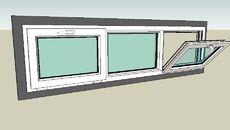 3D Model of window 200 x 60