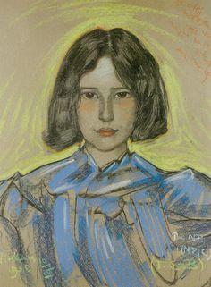 Portrait of Anna Nawrocka (1930) by Stanisław Ignacy Witkiewicz/ Witkacy (Polish,1885-1939)