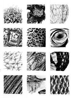 Natural textures in pen and ink - kelly finan sketches in 2019 текстуры, ри Texture Sketch, Art Texture, Texture Drawing, Visual Texture, Ink Illustrations, Art Drawings Sketches, Drawing Projects, Art Graphique, Pen Art