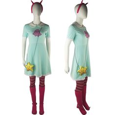 Star vs. the Forces of Evil Princess Star Butterfly Outfit Summer Dress Cosplay Costume Halloween Comic-con Xmas Birthday Gift Women