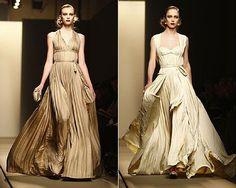 Bottega Veneta 2013: Pleated dresses like the Egyptian women's if they were wealthy.
