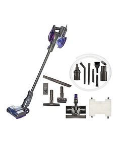 Look at this Purple Shark Rocket Ultra Light Upright Vacuum w/ 5 Attachments on…