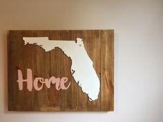Florida home wood plaque