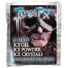 Our Ice FX Frozen Makeup Kit is designed for an even quicker Frozen look. The kit comes with two jars;) and a jar of our special Frozen mixture. Makeup Pro, Sfx Makeup, Real Frozen, Frozen Makeup, Scary Mary, Oval Brush Set, Special Effects Makeup Artist, Ice Gel, Ice Crystals