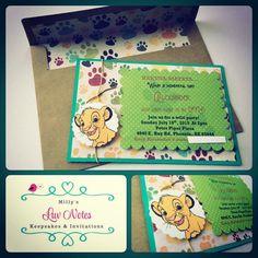 Lion King birthday party invitations Lion King birthday