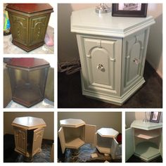 Yep WE (me and my bestie) did this - take two old end tables, sand them, primer, paint and some handles from Home Depot! Fun weekend project.
