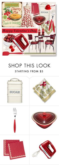 """""""Group Contest ♥ Happy Valentine's Day! ♥"""" by calamity-jane-always ❤ liked on Polyvore featuring interior, interiors, interior design, дом, home decor, interior decorating, Kitchen Craft, Guzzini, Le Creuset и Ulster Weavers"""