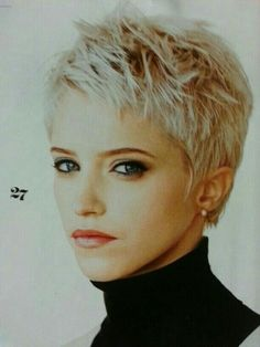 YES!  I love the edgy feel of this cut...bangs would have to be just a pinch longer. #ShortHairStyles