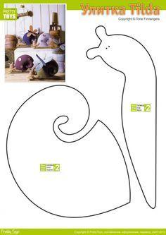 Tilda Caracol - Free Stuffed Plush snail pattern  WOULD MAKE A CUTE PINCUSHION