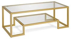 Find Henn&Hart Modern Geometric-Inspired Glass Coffee Table, One Size, Gold online. Shop the latest collection of Henn&Hart Modern Geometric-Inspired Glass Coffee Table, One Size, Gold from the popular stores - all in one Round Coffee Table Modern, Lucite Coffee Tables, Space Saving Furniture, Living Room Furniture, Furniture Legs, Gold Furniture, Furniture Decor, Glam Living Room, Color Dorado